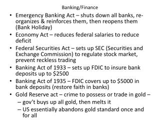 Banking/Finance