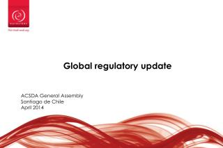 Global  regulatory update