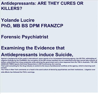 antidepressants: are they cures or killers yol
