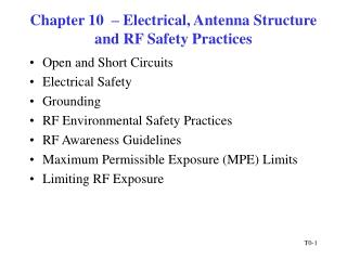 chapter 10    electrical, antenna structure and rf safety practices