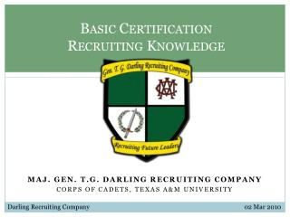 Basic Certification Recruiting Knowledge