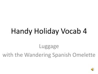 Handy Holiday Vocab 4