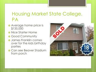 Housing Market State College, PA