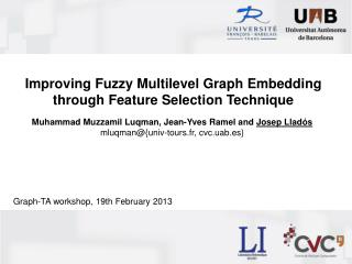 Improving  Fuzzy Multilevel Graph Embedding  through  Feature Selection Technique