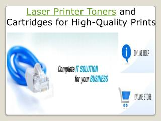 laser printer toners and cartridges for high-quality prints