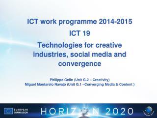 ICT work programme 2014-2015 ICT 19