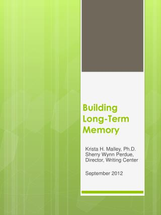 Building Long-Term Memory