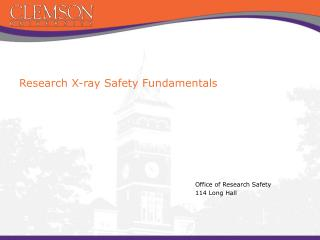 Research X-ray Safety Fundamentals
