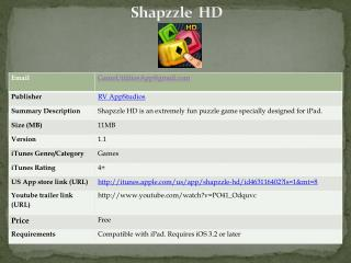 shapzzle hd