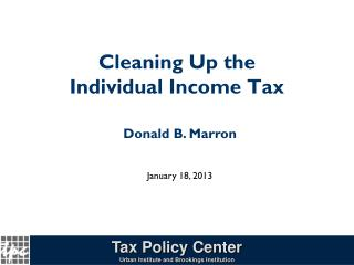 Cleaning Up the Individual Income Tax