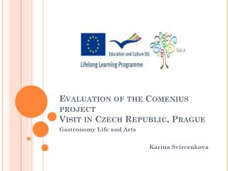 Evaluation of the Comenius project Visit in Czech Republic ,  Prague