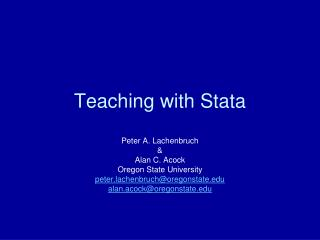 teaching with stata