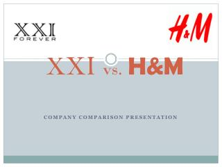XXI  vs. H&M