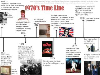 1970's Time Line