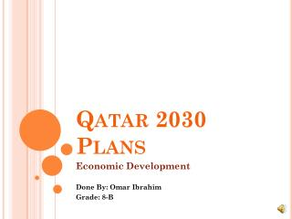 Qatar 2030 Plans