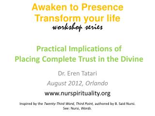 Practical Implications of Placing Complete Trust in the Divine