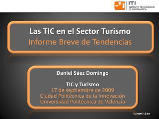 Las TIC en el Sector Turismo Informe Breve de Tendencias