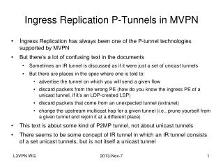 Ingress Replication P-Tunnels in MVPN