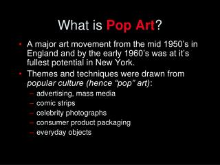 What is  Pop Art ?