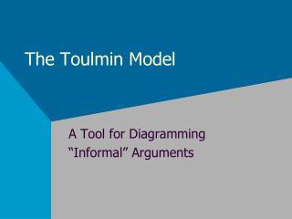 The Toulmin Model