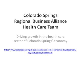 Colorado Springs Regional Business Alliance Health Care Team