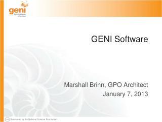 GENI Software