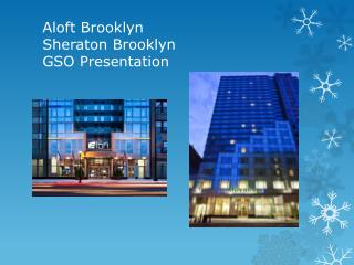 Aloft Brooklyn Sheraton Brooklyn GSO Presentation