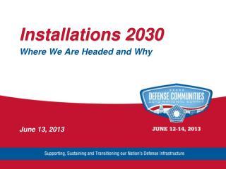 Installations 2030