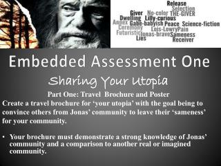 Embedded Assessment One