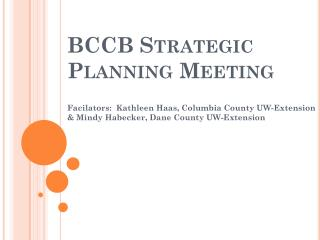 bccb strategic planning meeting