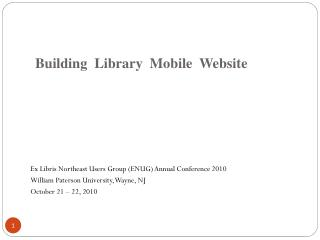 Building  Library  Mobile  Website