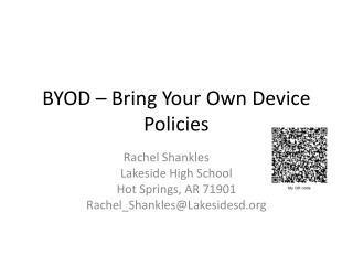 BYOD – Bring Your Own Device Policies