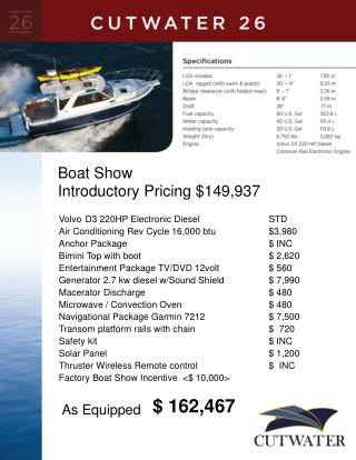 Boat Show  Introductory Pricing $149,937