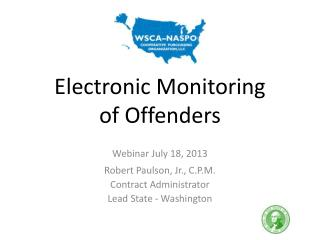 Electronic Monitoring of Offenders