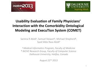 Usability Evaluation of Family Physicians' Interaction with the Comorbidity Ontological Modeling and  ExecuTion  System