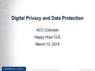 Digital Privacy and Data Protection