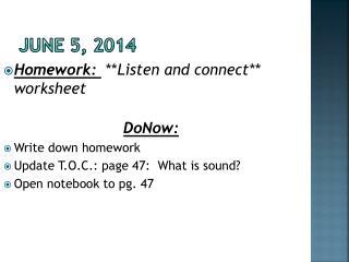 June 5, 2014