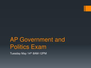 AP Government and Politics Exam