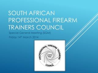 South African Professional Firearm Trainers Council