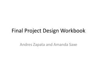 Final Project Design Workbook