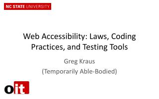 Web Accessibility: Laws, Coding Practices, and Testing Tools