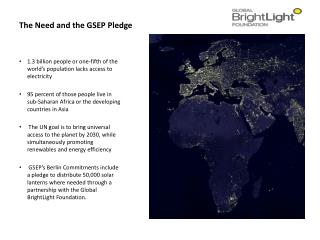 The Need and the GSEP Pledge