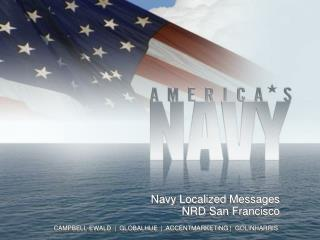 Navy Localized  Messages NRD San Francisco