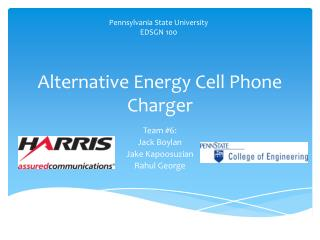 Alternative Energy Cell Phone Charger