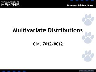 Multivariate Distributions