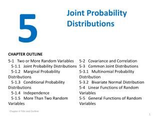 Joint Probability Distributions