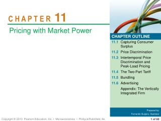 11.1 Capturing Consumer Surplus 11.2 Price Discrimination 11.3 Intertemporal Price Discrimination and Peak-Load Pricing
