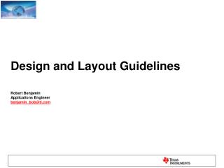 Design and Layout  Guidelines