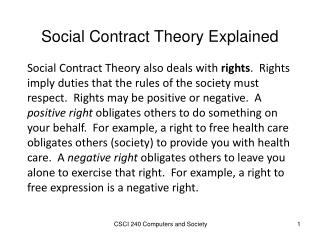 Social Contract Theory Explained