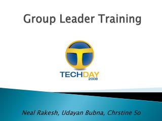 Group Leader Training